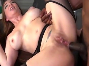 Busty cougar Kiki Daire spreads legs and gets asshole terrorized by bl