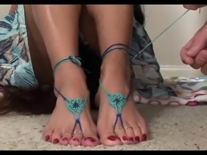 Molly hot Footjob