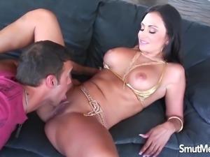 Hot MILF Claudia Valentine is fucked hard