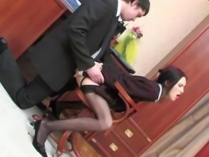 Co-worker fucked in office
