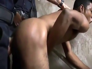African dirty gay porn guy video Suspect on the Run  Gets Deep Dick