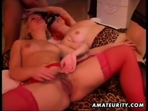 Big boobs Bambi plays with her wet cunt and a slutty sex toy