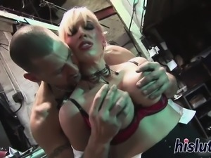 Kinky foursome session with two blonde hotties