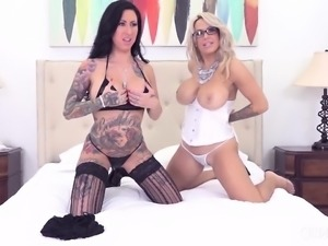 These Busty Lesbians Are The Perfect Pair While They Fuck