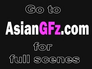 Asian girlfriend riding and sucking long cock
