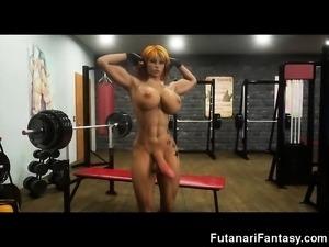 Futanari Selfsucking and Self Facials!