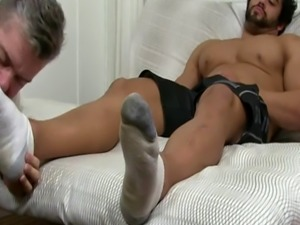 Gay men foot job movie Alpha-Male Atlas Worshiped