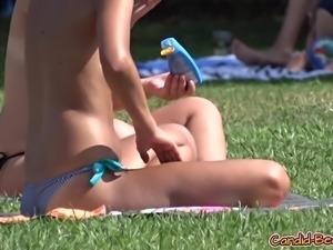 Sexy Topless Bikini Beach teens HD Voyeur Spycam