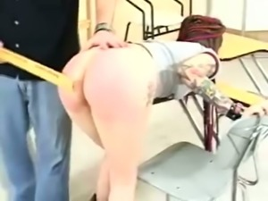 Horny Dude Takes Her Jeans And Spanks Her Ass Hard And Wild
