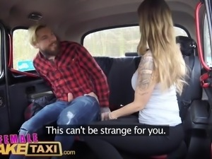 Female Fake Taxi Sexy Englishman pays for czech taxi ride