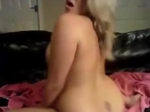 Busty UK Chick Rubs Clit