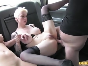 Fake Taxi anal threesome in london cab