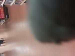 black bbw booty wobbling in loose sweats