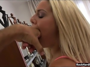 Adorable Christen Courtney anal banged by huge hard cock