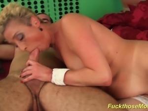 Big natural czech mom enjoys her first big cock fuck lesson