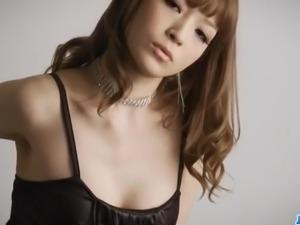Amazing solo posing along lingerie beautyYuria