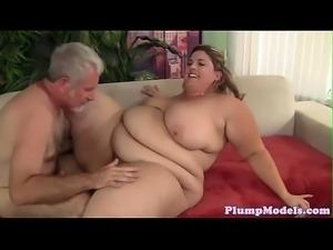 Tittyfucking SSBBW banged on all fours