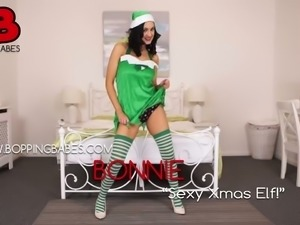 This Santa's helper devotes so much time to stripping and she is so hot