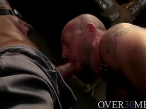hugh dominating Matts mouth and ass in more than one