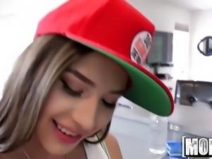 Badass Latina Fucks Handyman video starring Zaya Cassidy