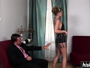 Sabrina gets two cocks for herself