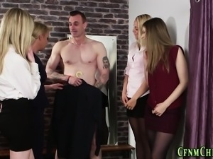 Cfnm mistress blows loser