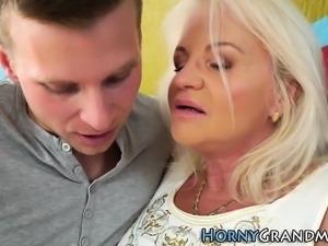 Old grandma sucks dick