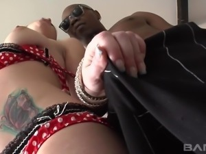 Katie St. Ives is ready for her black lover's massive cock
