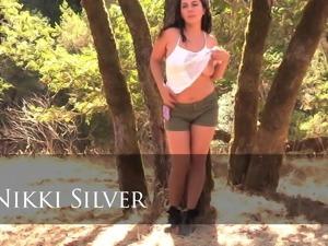 Hairy Nikki Silver in Outdoor Scene Sexy Hairy Bush Armpits