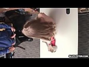 Lana on her knees sucking off officer Jason&#039_s stiff rod