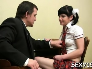 Sensational russian maid in hardcore on cam