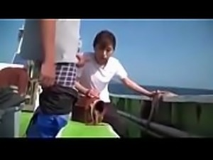 Asian Japanese Milf could not resist hard dick on a boat - ReMilf.com