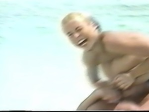 Tiffany Towers running nude beach with boyfriend