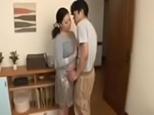 Busty Japanese mature Milf helps her son-in-law cum out - ReMilf.com