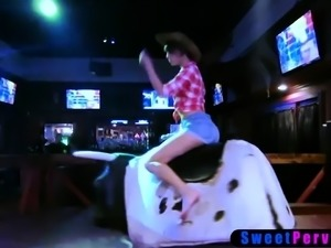Bisexual teen cowgirl BFFs wild night ends in fucking