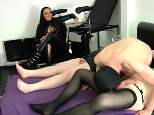 german bisexual slave first time blowjob for femdom lady