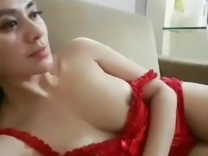 Kimaya Agata Nipple Slip (Red Lingerie) - Indonesian Model