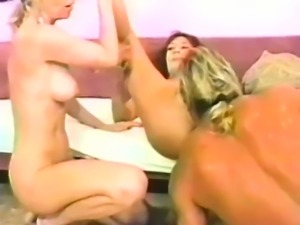 Officer fucks two lustful babes