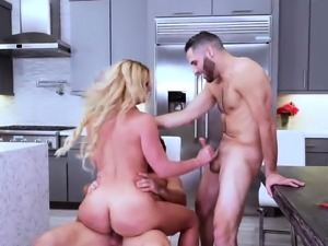 Fucking my daddy big cock Army Boy Meets Busty Stepmom