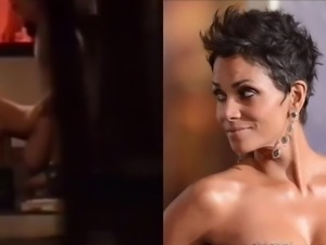 Halle Berry checks herself out fucking