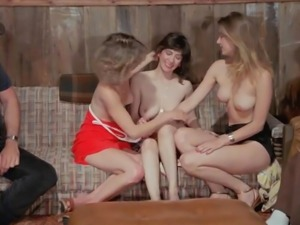 Hot Group Sex Orgy At Vintage Movie