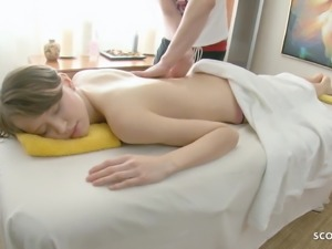 Cute Virgin Teen Demi First Time Fuck at Massage in Parlour