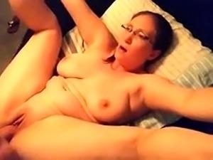 Chubby amateur mom with big hooters enjoys a deep pounding