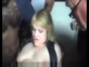 Blondie&#039s public creampie gangbang