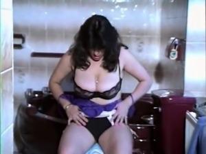 Bathroom strip vintage big natural tits hairy pussy