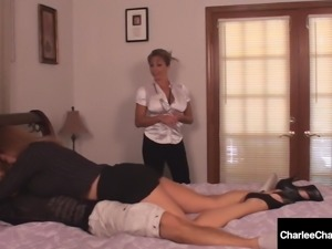 Milf Charlee Chase & Amber Lynn Bach Suck & Milk A Hard Cock