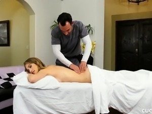 Blonde Beauty Cucks Her Hubby By Fucking The Fat Cock Of