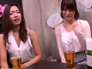Two dazzling and horny Asian babes share their love for cock