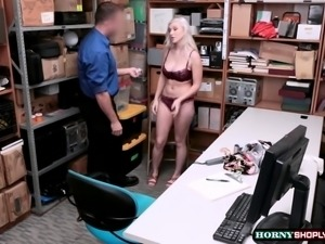 Teen Emily gets fucked from behind by Officers