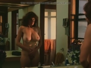 Vintage milf takes a shower